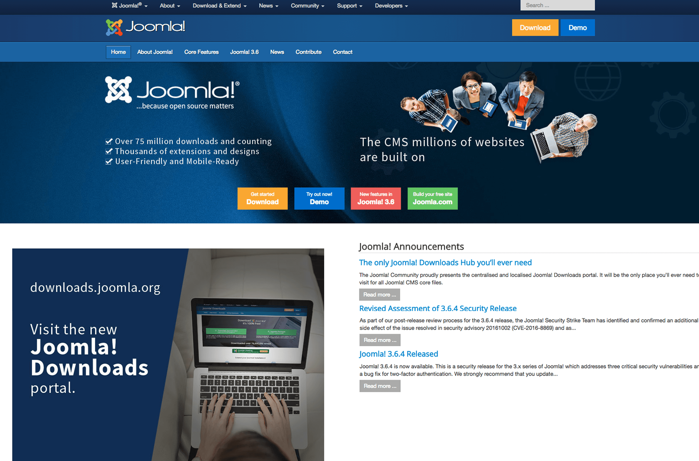 Joomla Screen Banner